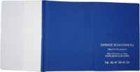 Porte-carte grise 3 volets dont 1 cristal