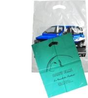 Sacs plastique poignées découpées renforcées BD blanc