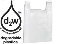 Sacs Bretelles - blanc - personnalisés biodégradables